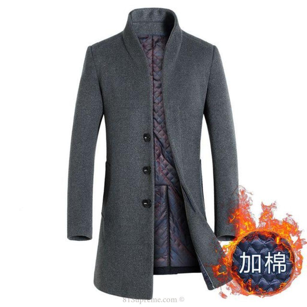 Men Casual Winter Long Cashmere Coat | 81Supreme