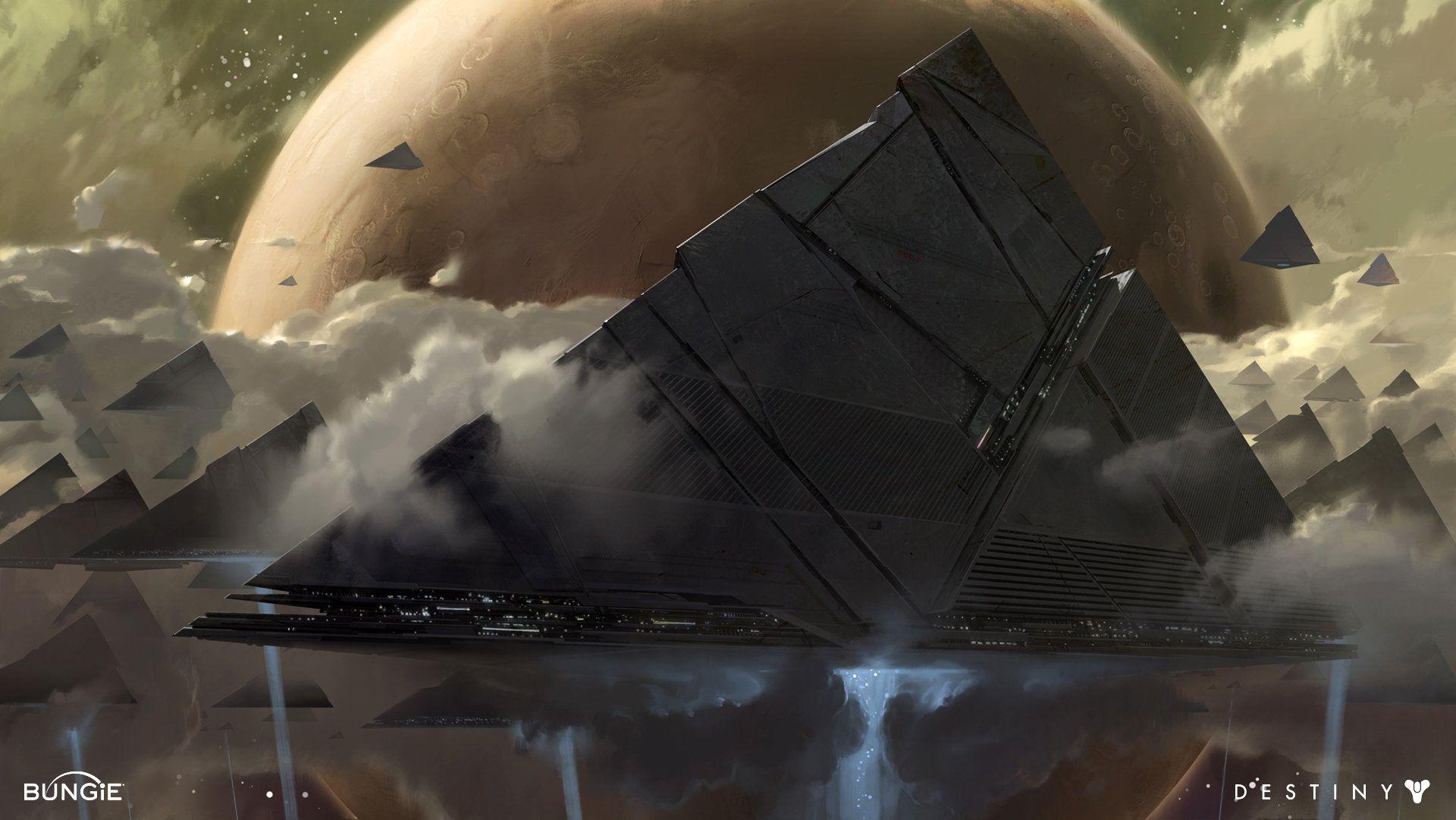Artstation Destiny Pyramid Ships Dorje Bellbrook In 2019
