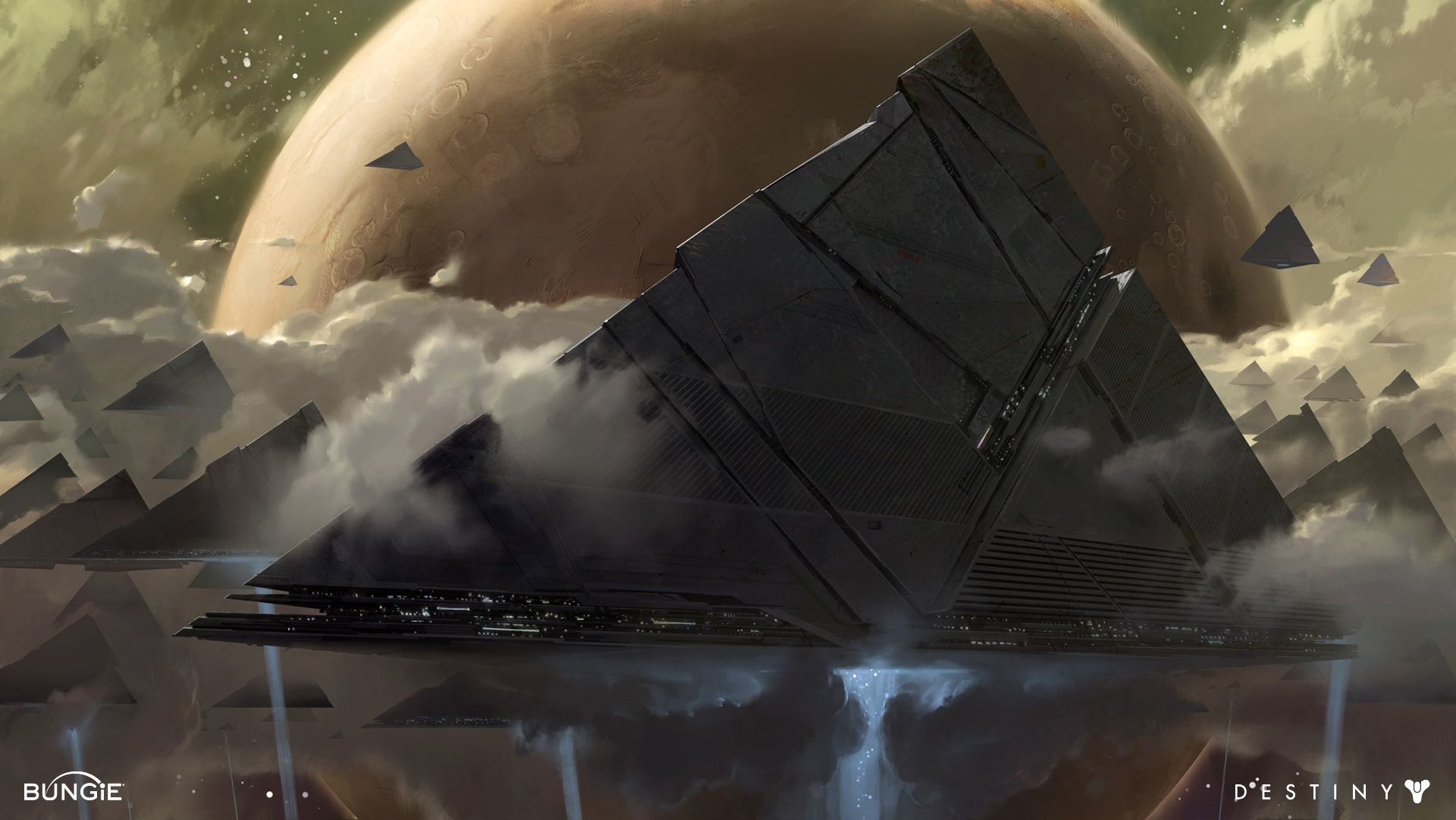 Artstation Destiny Pyramid Ships Dorje Bellbrook Concept Art World Concept Art Destiny 2 Shadowkeep