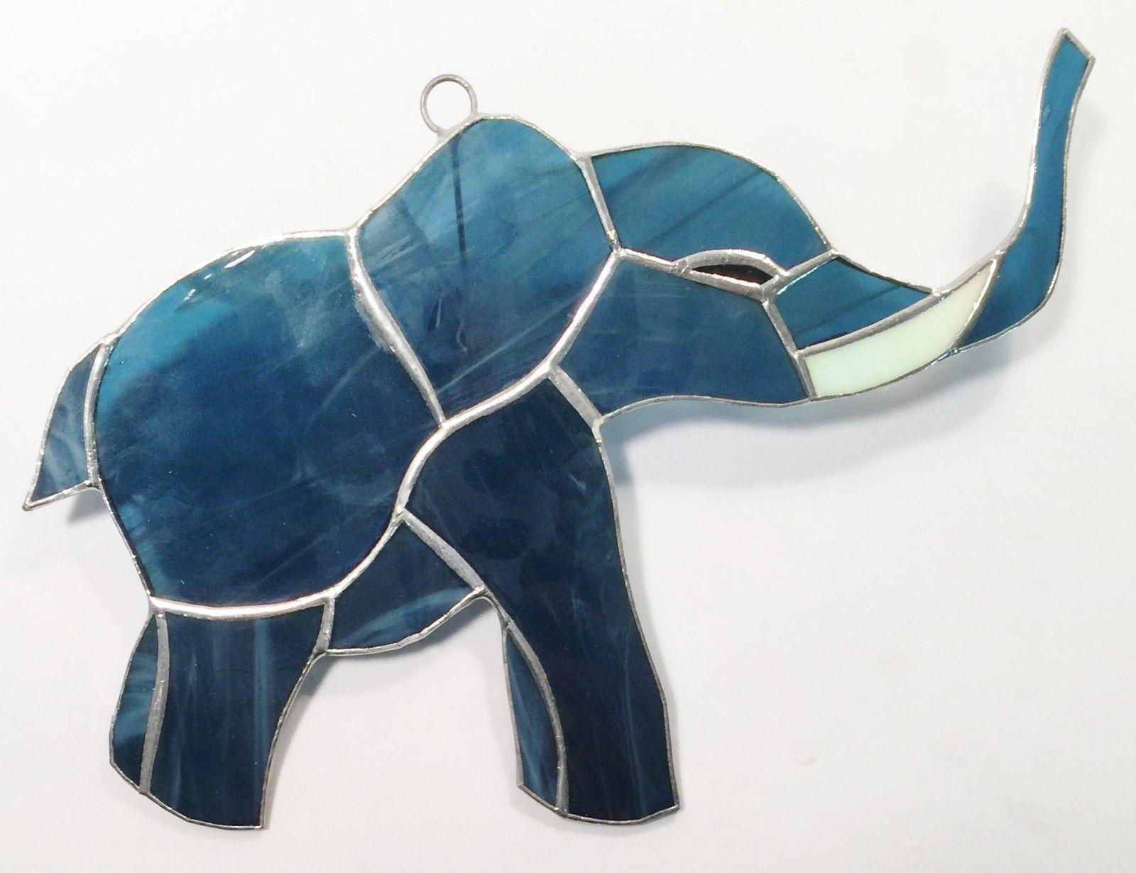 Blue /& Turquoise Elephant Suncatcher Window Wall Decoration Colourful Gift