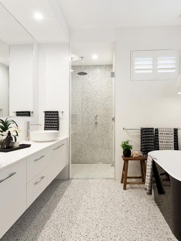 Jazzy Terrazzo Tiles Giving Simple Bathroom A Spa Like Finishing Shairoom Com Terrazzo Bathroom Bathroom Flooring Terrazzo Tiles Bathroom floor color inspiration