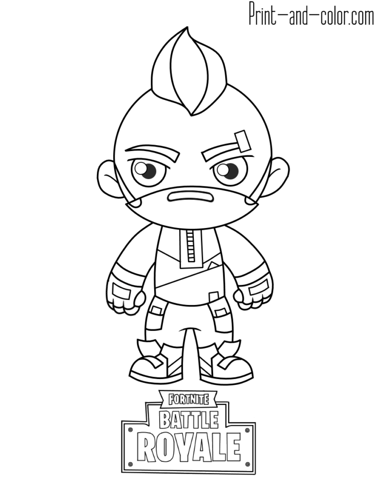 Fortnite battle royale coloring page Drift  Coloring pages