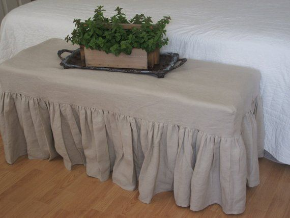 Tremendous French Linen Bench Slipcover In 2019 Products Ottoman Pdpeps Interior Chair Design Pdpepsorg