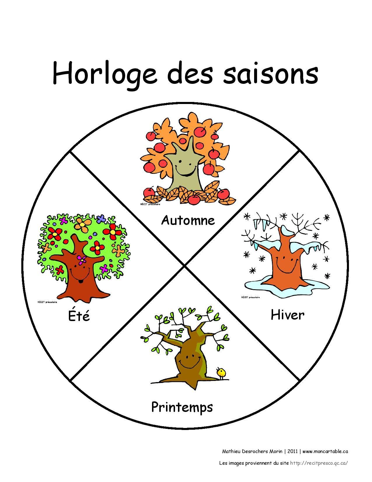 Mdmhorlogesaisonp page 001 garderie pinterest for Le jardin des 4 saisons pusignan