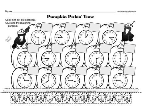 Image Result For Second Grade Time Worksheets Cut And Glue Time