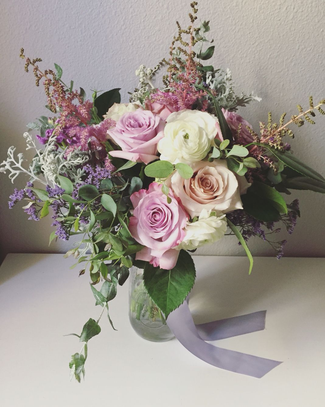 Dusty Rose Bouquet For The Win! Lavender Lilac Bridal