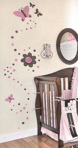 Flower Stickers For The Baby S Nursery Wall Butterfly Nursery