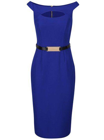Modré šaty s páskem Dorothy Perkins  db4d123ec3