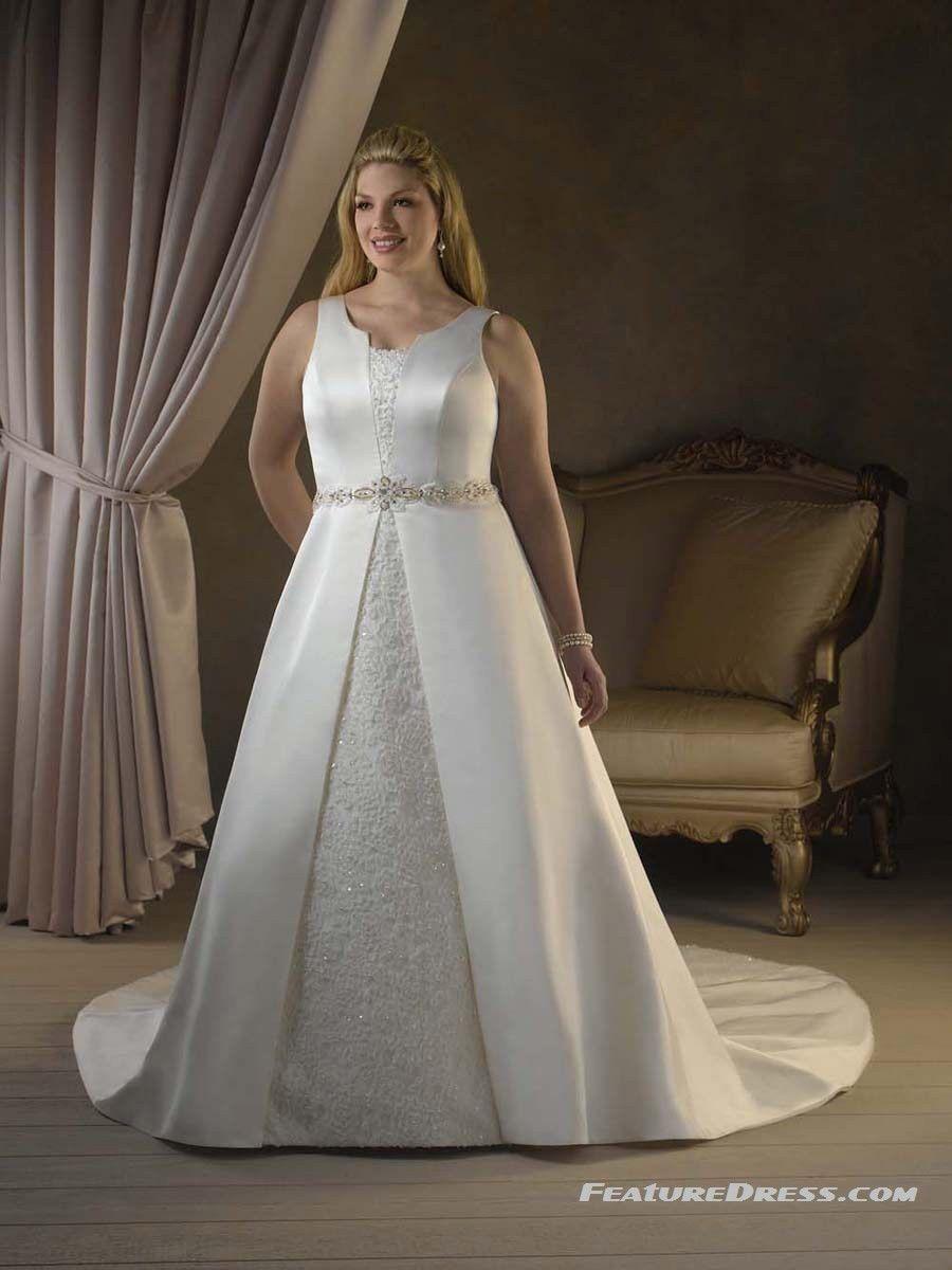 Round neck plus size wedding dresses wedding dresses pinterest