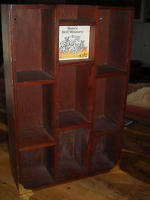 #Small #steiff #teddy Bear Wooden Display Cabinet Stand Unit Historic  Miniatures, View