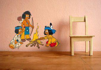 Etagenbett Yakari : Yakari theme wall art wilderness kids room