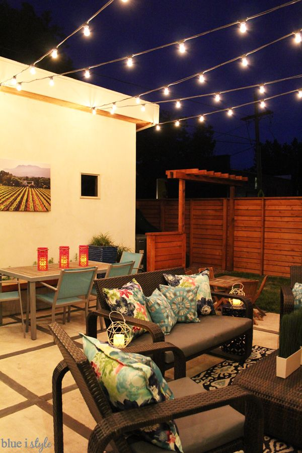 Pin On For The Home, How To Put Up String Lights On Patio