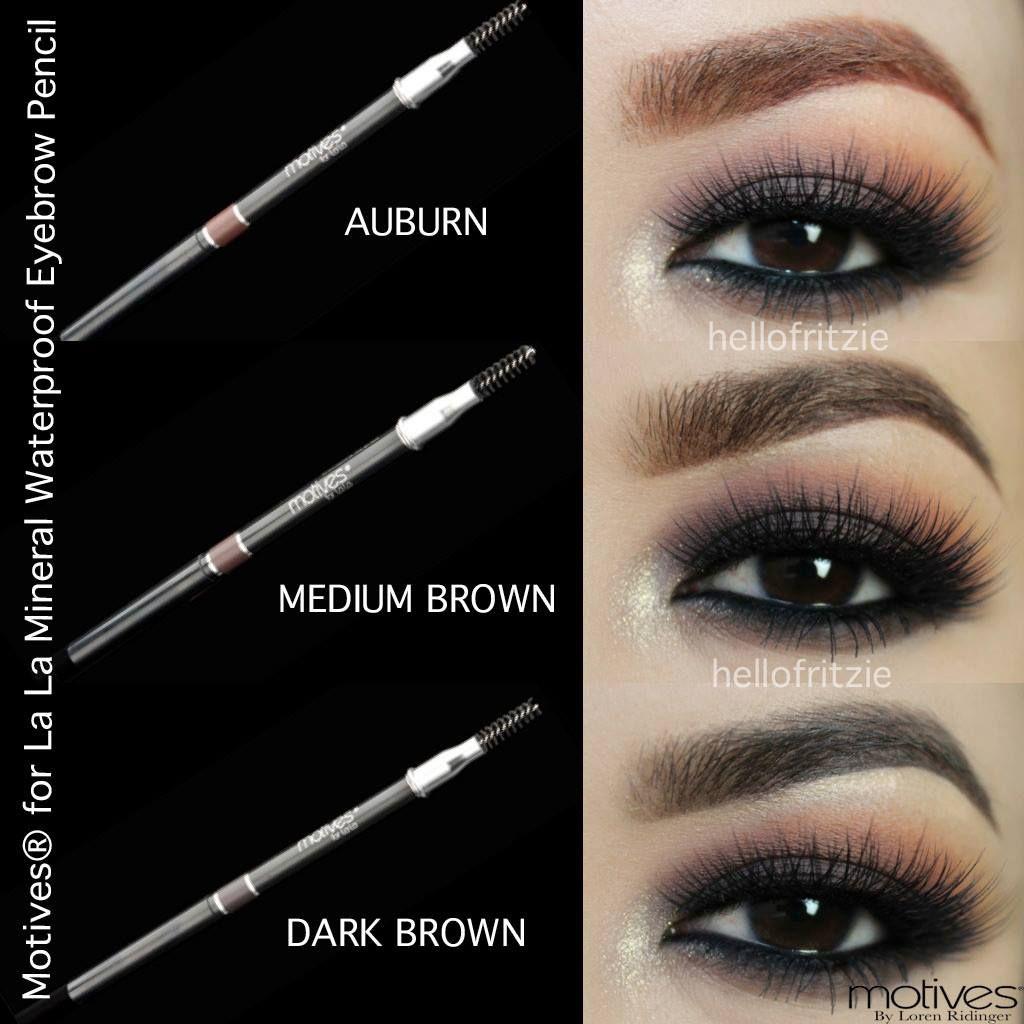 Motives For La La Mineral Waterproof Eyebrow Pencil Hair Dos And