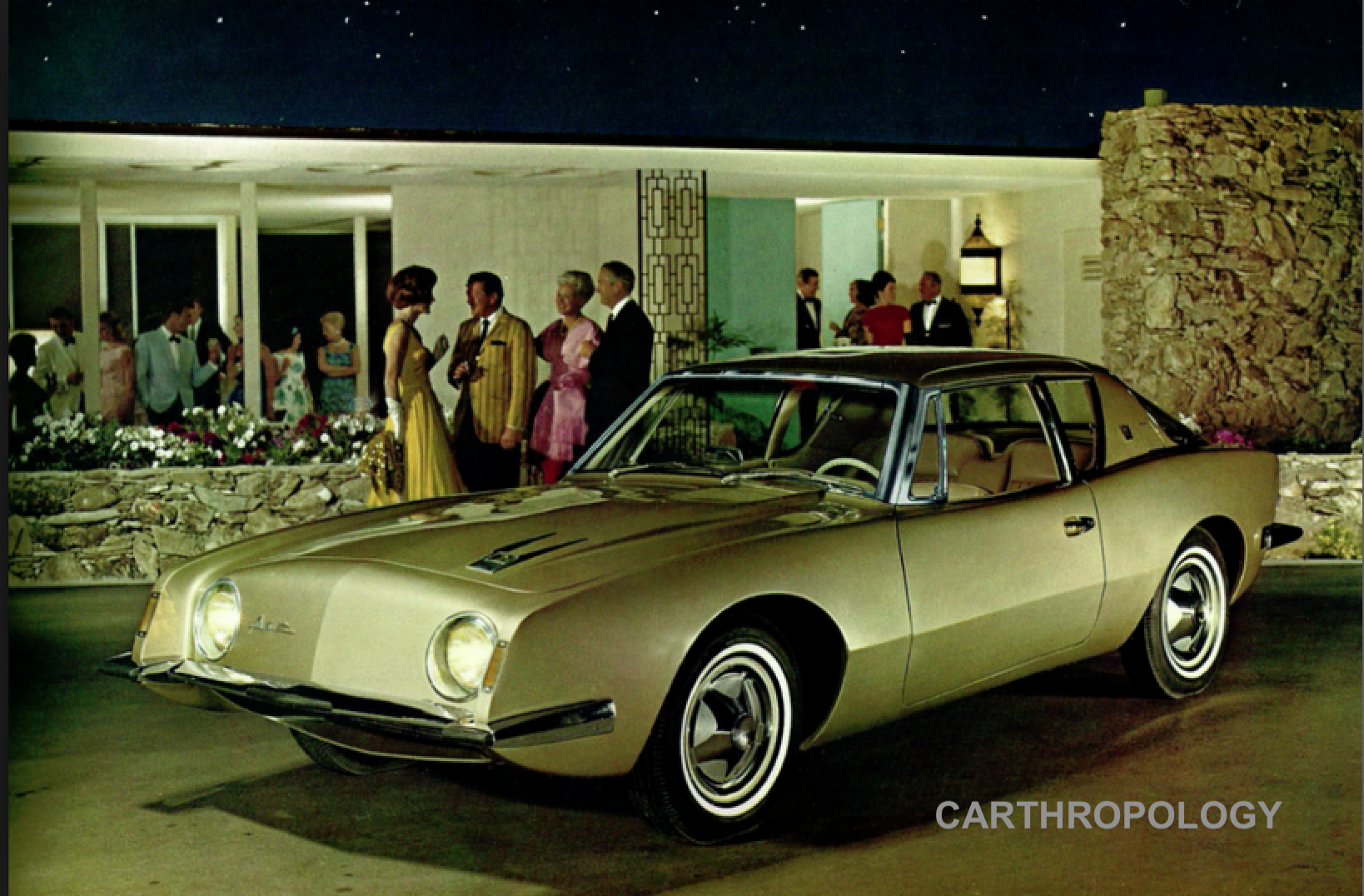 Publicity Shots For The Avanti Initially Used Palm Springs Architectural Backdrops The Car Was Conceived In Palm