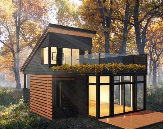 Micro maison pr fabriqu e contemporaine nano industries bonneville rubric brac pinterest - Maison contemporaine prefabriquee ...