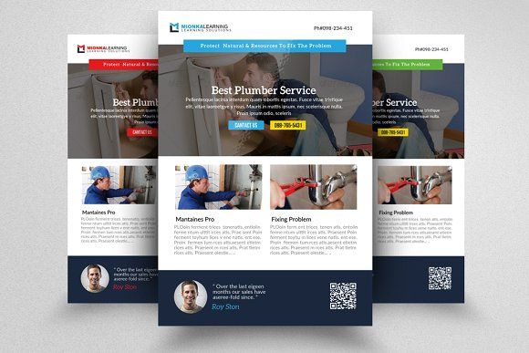 Handyman  Plumber Services Flyer Flyer template and Template