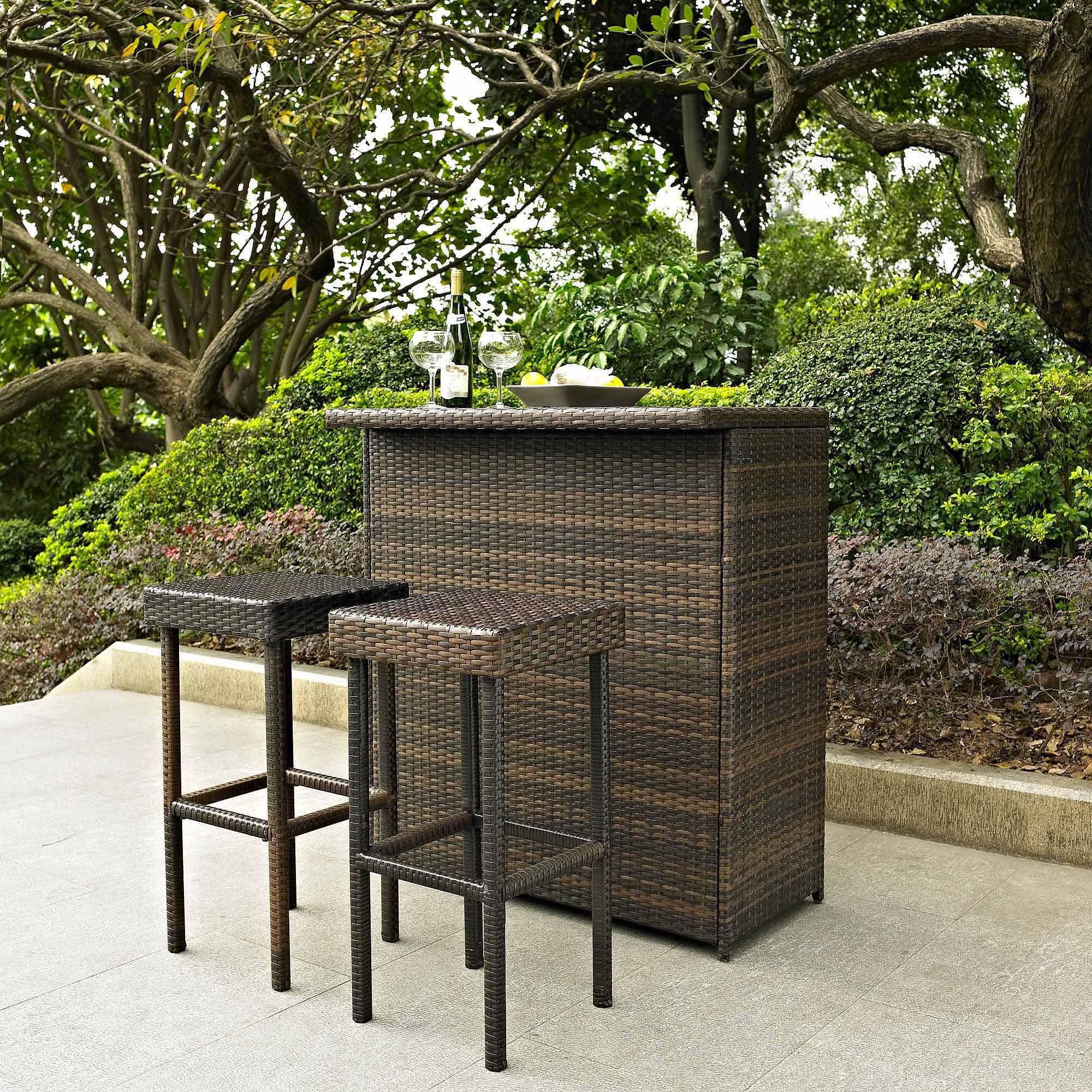 Buy Crosley Furniture Palm Harbor 3 Piece Outdoor Wicker Bar Set At .