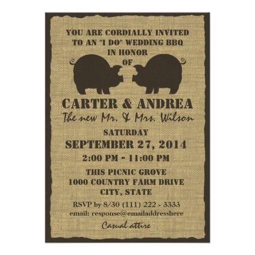Bbq Wedding Reception Invitation My Dream Wedding Pinterest