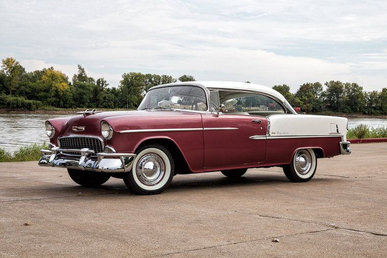 55 In India Ivory And Dusk Rose If Original A Rare Color Combo Chevrolet Bel Air 1955 Chevrolet Classic Cars
