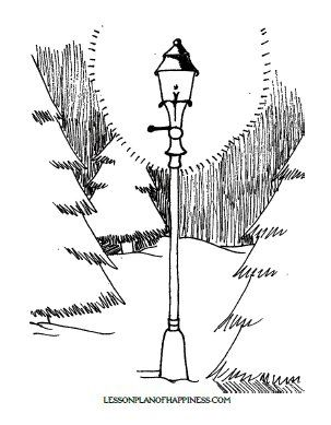 The Lion Witch And Wardrobe Lamp Post Coloring Page