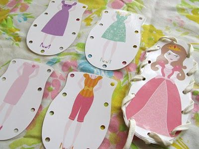 Free printable lace-up dolls.  The site includes boy dolls, too.  Cute- wish I had found them when Bean was littler.