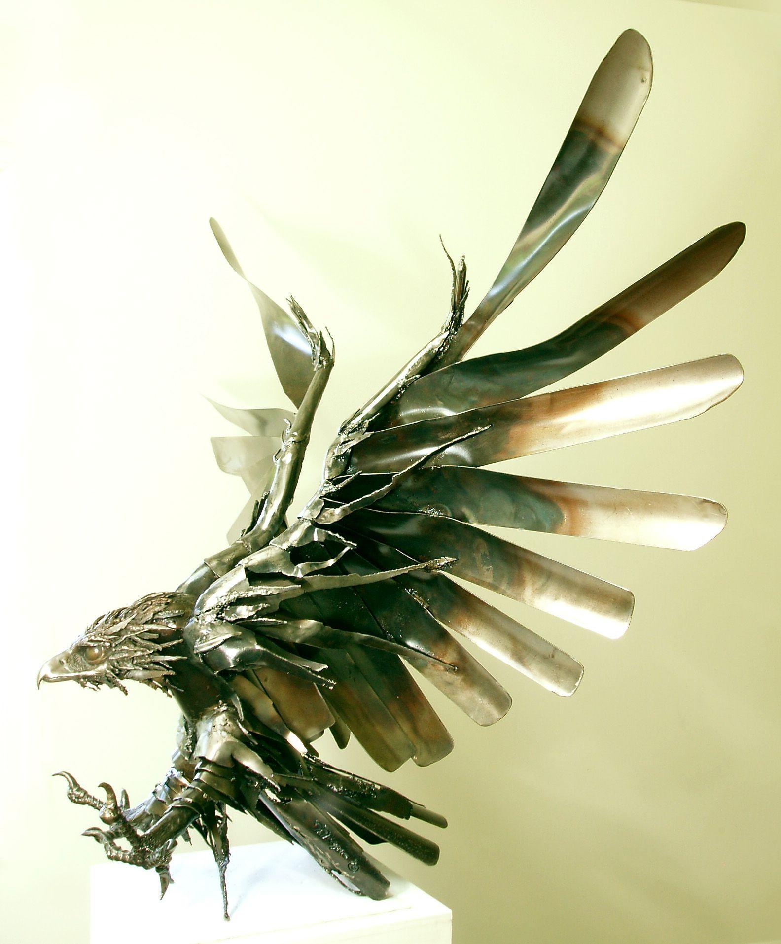 Wildlife Sculpture, Metal Garden Art, Architectural & Atrium Sculpture, Birds