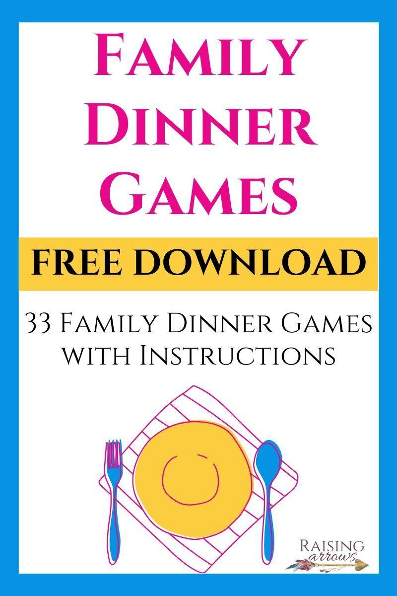46++ Dinner table games family information