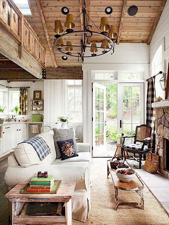 Rustic Living Room Ideas   Country cottage living room ...