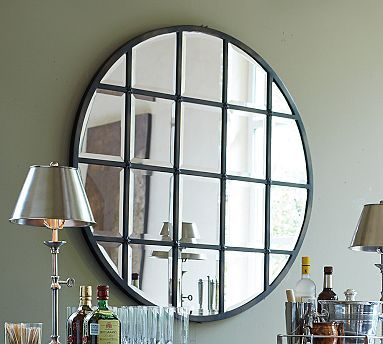 Eagan Multipanel Round Mirror 44 Quot Bronze Finish At