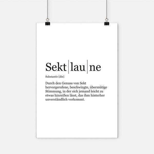 Sektlaune - Poster DIN A2