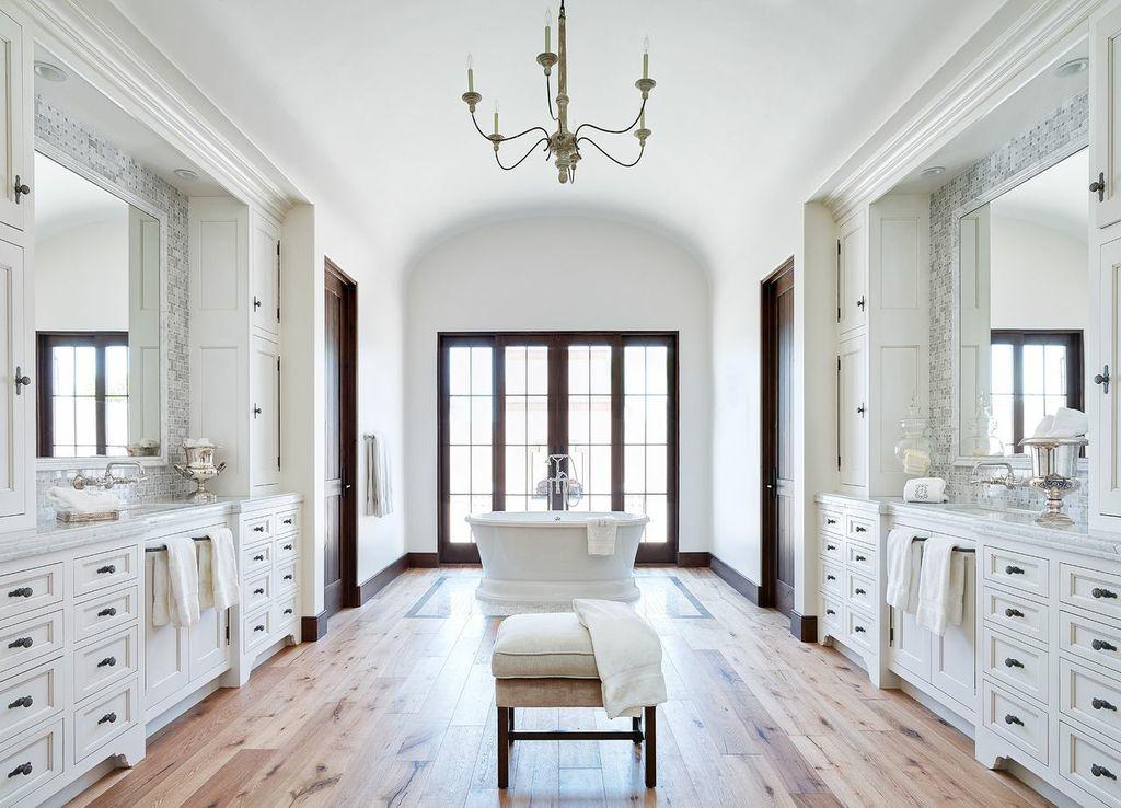 Glamorous Bathroom | Wood floor bathroom, Home, Beautiful ...