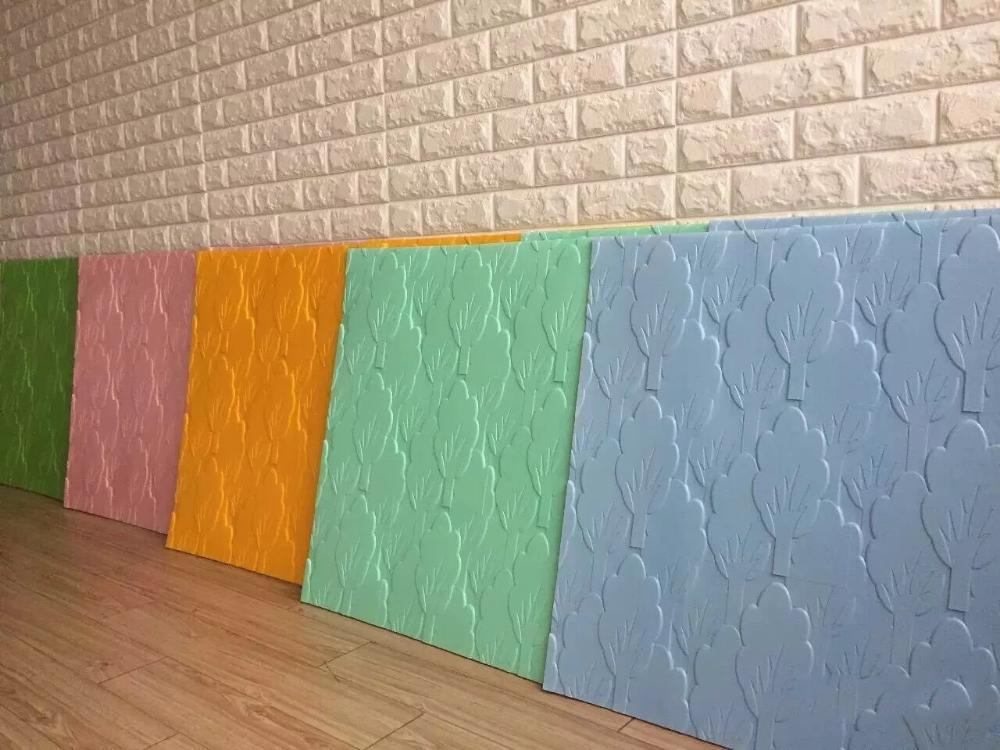 Purple Soundproof 3d Pe Foam Wallpapers - Buy 3d Texture