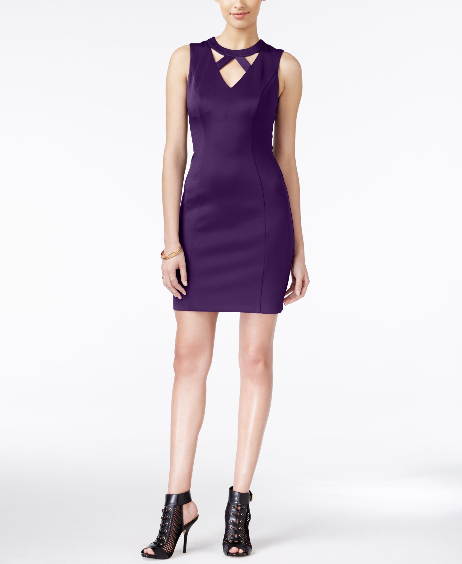 Guess Cutout Bodycon Dress | Products | Pinterest