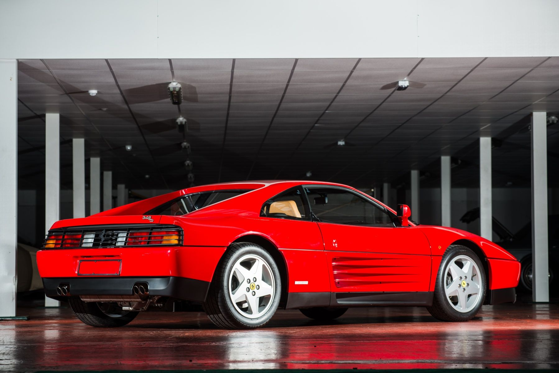 A low mileage 1990 ferrari 348 tb is getting ready to hit the auction block at silverstone auctions on july