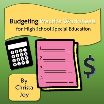 Budgeting Practice Worksheets For High School By Special Needs For Special K High School Special Education Special Education Worksheets Practices Worksheets