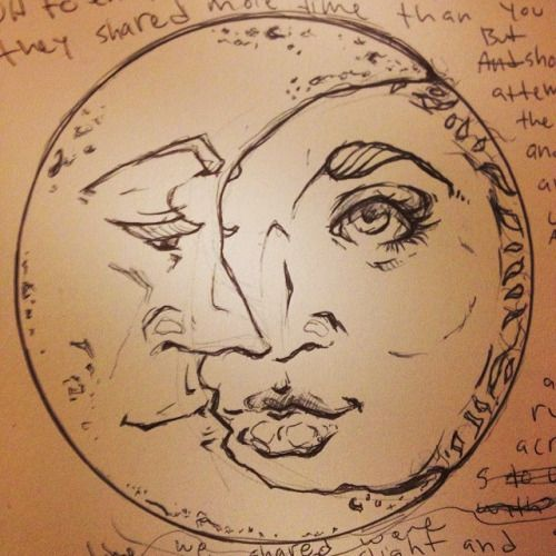 Beautiful Drawing Of Sun Moon With Images Sun And Moon