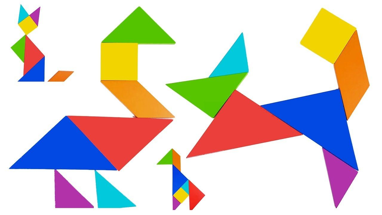 animal tangram puzzles for kids 🔶 creative learning with