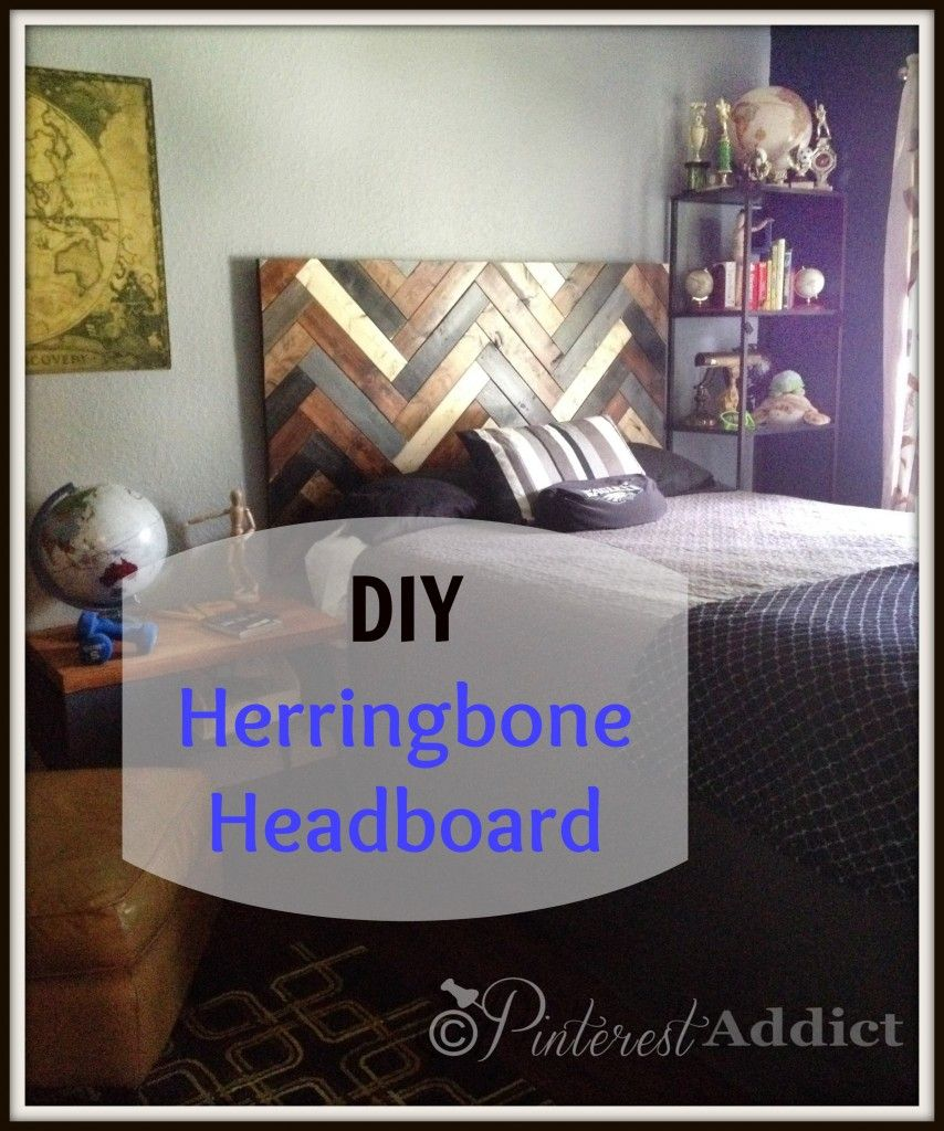 51 51 diy headboard ideas to make the bed of your dreams snappy pixels - How To Make A Diy Herringbone Headboard