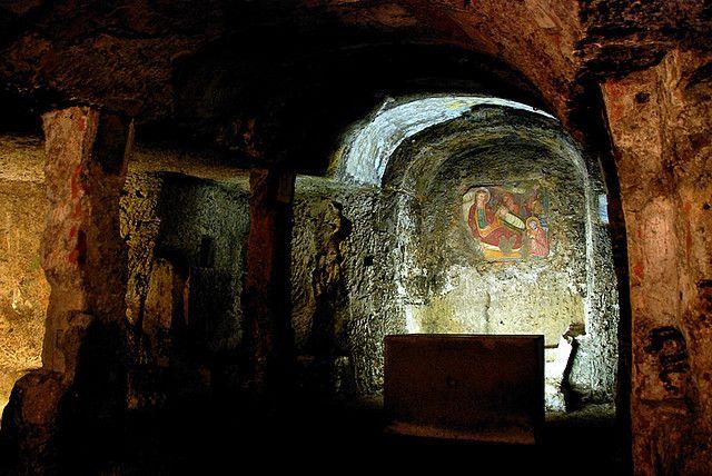 Madonna del Parto e Natività - Mitreo chiesa cristiana a Sutri