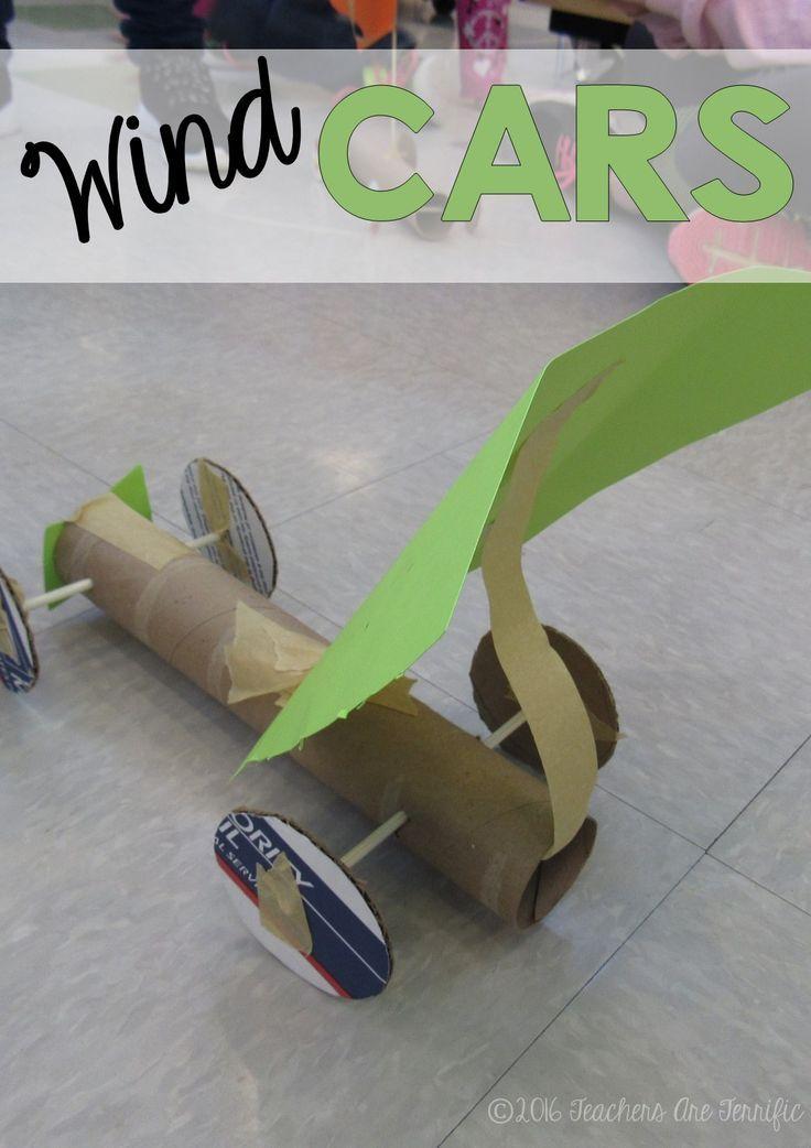 Stem Challenge Wind Powered Car Elementary Science
