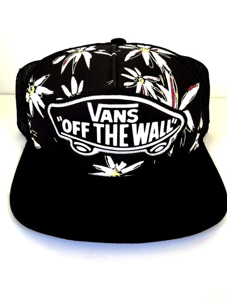 0c208ff53ba Vans Off The Wall Women s Beach Girl Trucker Hat Cap - Multi Floral Black  NWT  Vans  Trucker