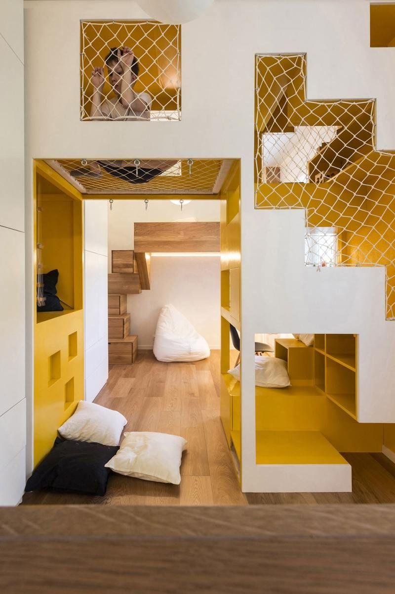 netz sichert die obersten stufen und bietet noch weitere ... - Indoor Spielplatz Zuhause Design
