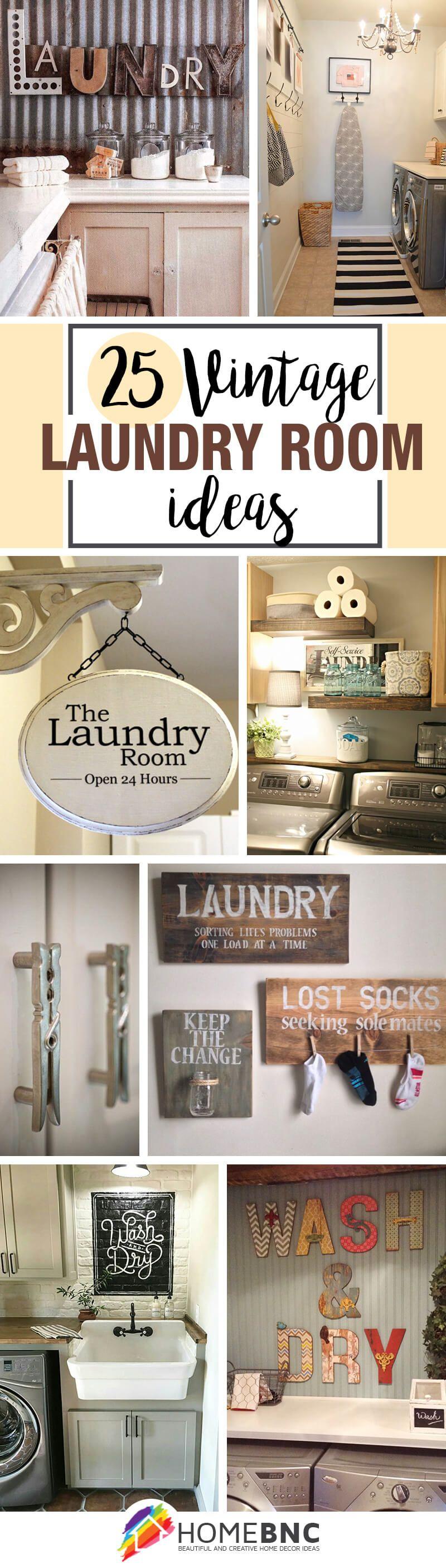 Vintage Laundry Room Signs Impressive 25 Ways To Give Your Laundry Room A Vintage Makeover  Vintage Design Ideas