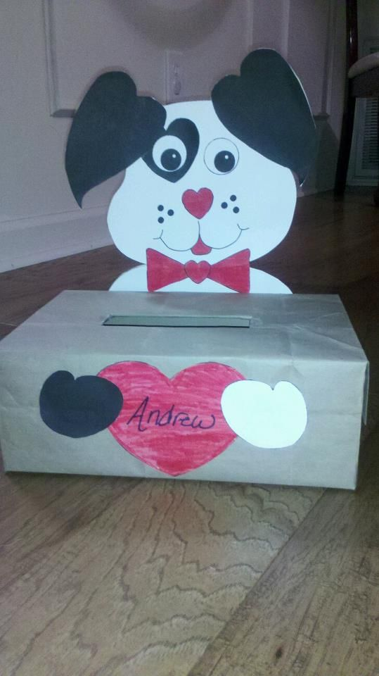 A Cute Valentine S Day Box To Make To Put Cards In For School So