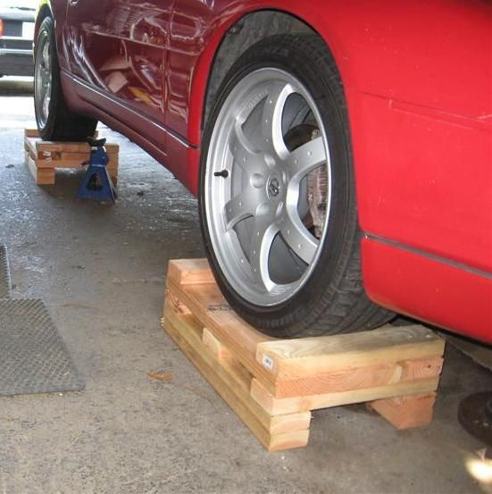 Wood Cribbing As Jack Stands For Your Car Honestly I
