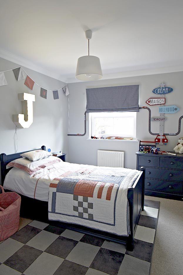 Little Boys Room Racing Car Theme Ikea Rug White Company Bedding Ae Charterhouse Furniture Gingham J Metal Letter Light Farrow And Ball Pavilion