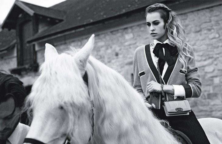 Alice Dellal & Jake Davies by Karl Lagerfeld for Chanel Boy Handbags SS 2013