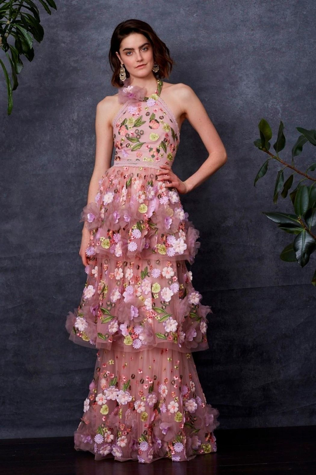 5a64ad93 Marchesa 3d Floral Gown | Dresses | Floral gown, Fashion outfits ...