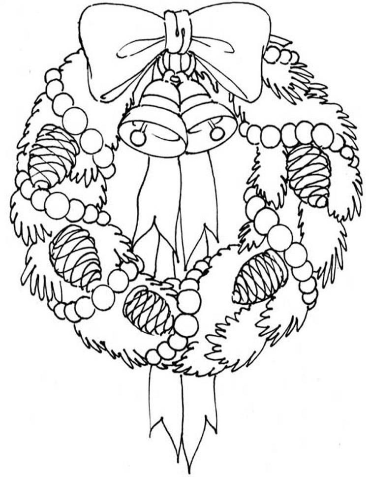 Adorable Wreath Free Coloring Pages For Christmas Christmas Pictures To Color Christmas Coloring Sheets Printable Christmas Coloring Pages