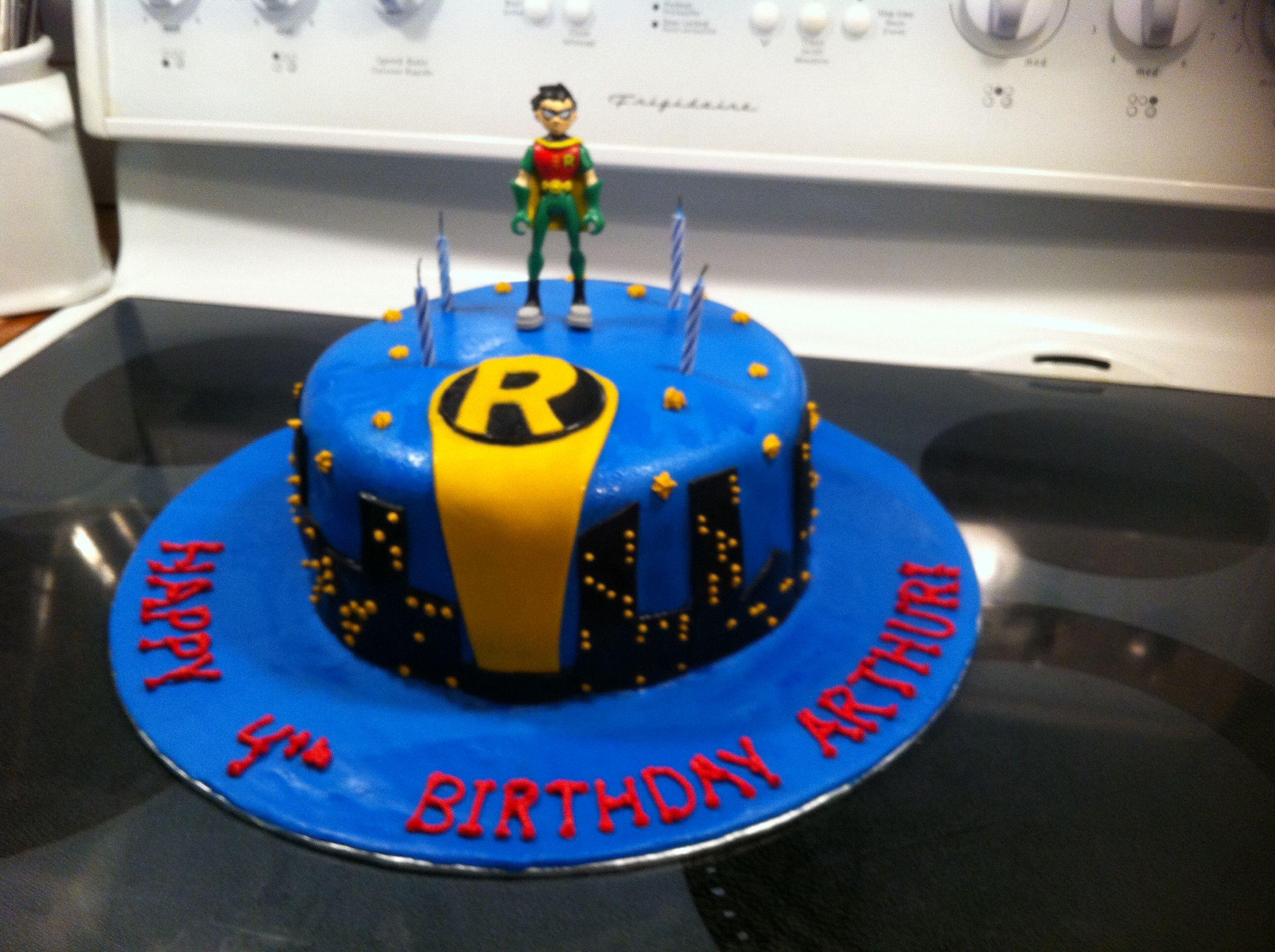 Just Robin Batman Birthday Cake Robins 1st Birthday Pinterest